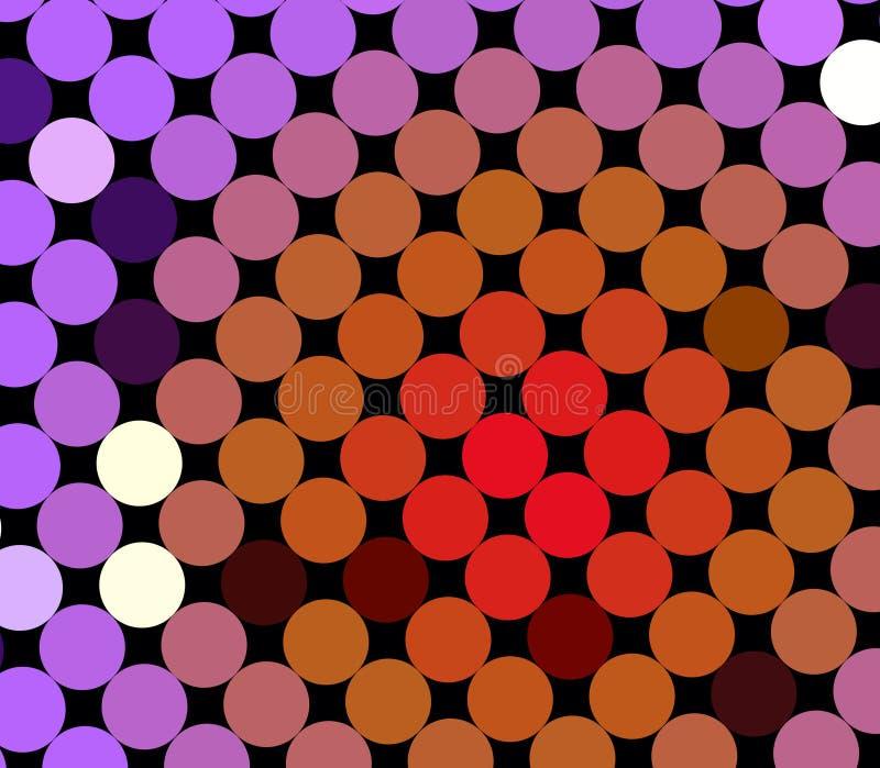 五颜六色的模式地点 向量例证
