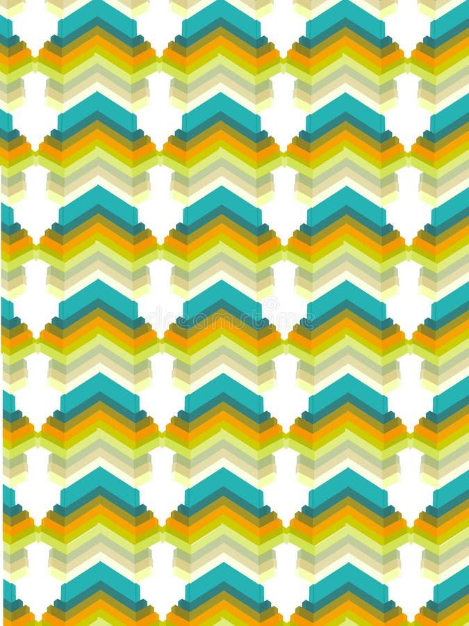 五颜六色的模式墙纸 向量例证