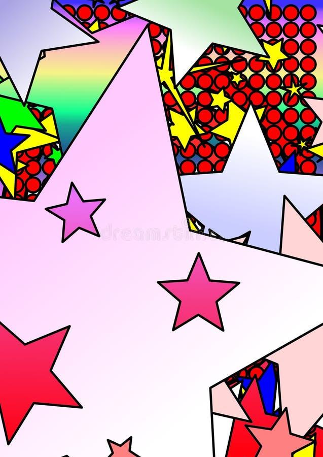 五颜六色的模式星形 向量例证