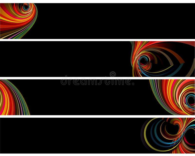 五颜六色的横幅 库存例证