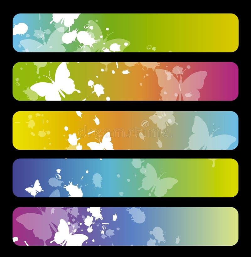 五颜六色的横幅 皇族释放例证