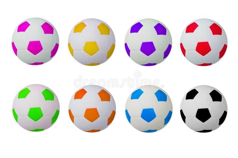 五颜六色的橄榄球 向量例证