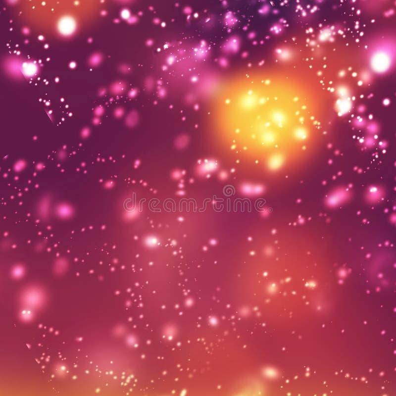 五颜六色的欢乐葡萄酒闪烁的圣诞节背景Boke 皇族释放例证