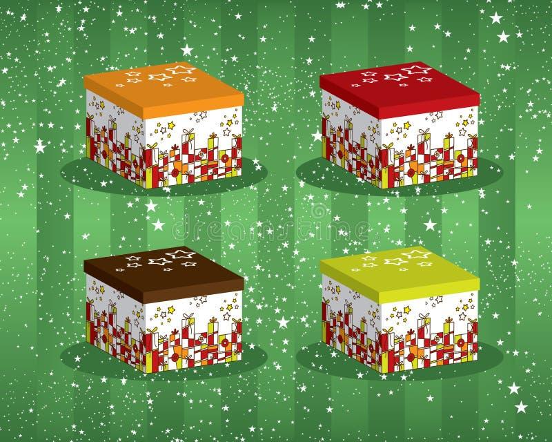 五颜六色的欢乐giftboxes 免版税库存照片