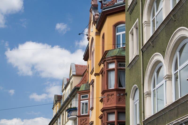 五颜六色的欧洲房子 免版税库存照片