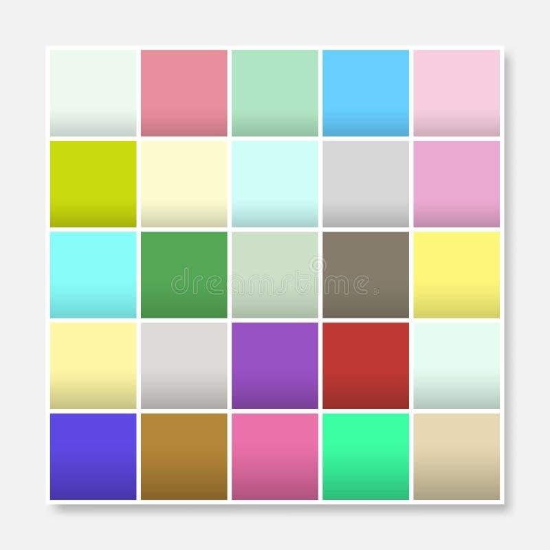 五颜六色的正方形背景框架,阻拦软的淡色彩虹 皇族释放例证