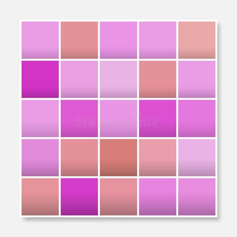 五颜六色的正方形背景框架,阻拦软的淡色紫色桃红色 库存例证