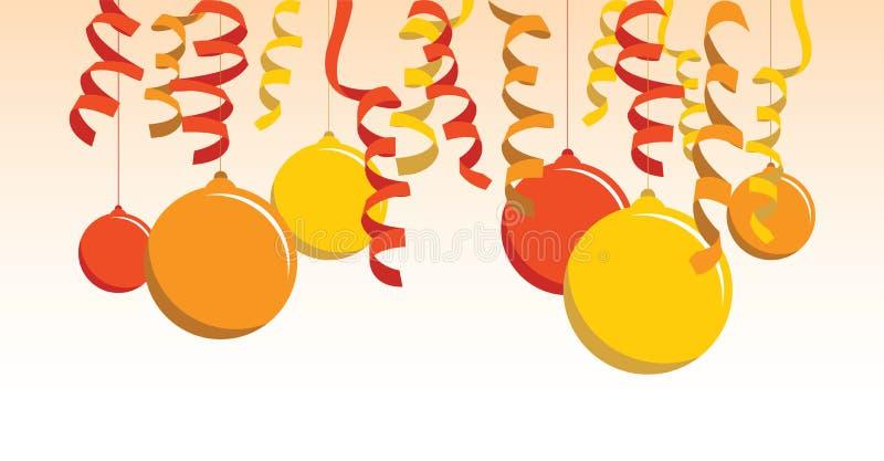 五颜六色的气球背景横幅 皇族释放例证