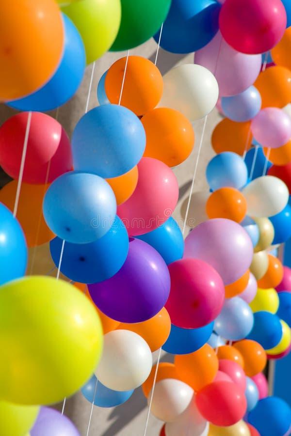 五颜六色的气球 库存照片