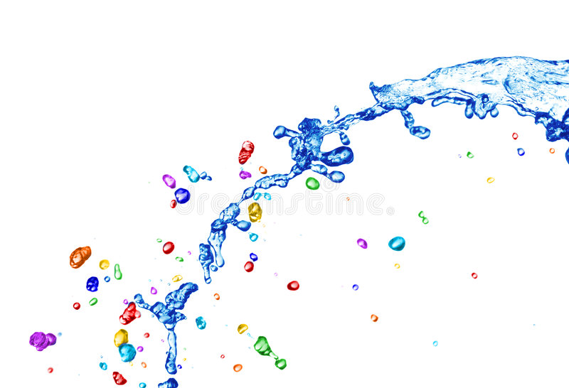 五颜六色的水 免版税库存照片