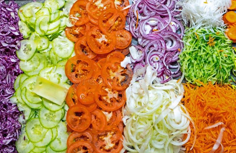 五颜六色的沙拉自助餐 免版税库存图片