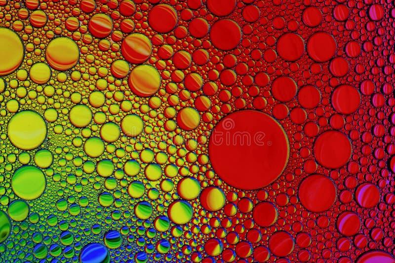 五颜六色的油和水摘要织地不很细背景 免版税库存照片