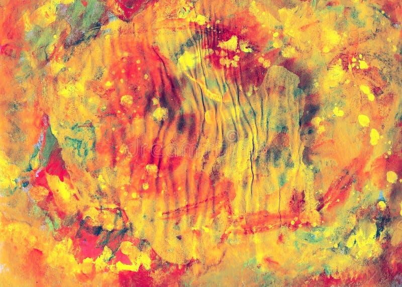 五颜六色的油漆帆布,艺术 免版税库存图片