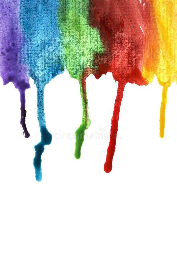 五颜六色的油漆条纹 库存图片