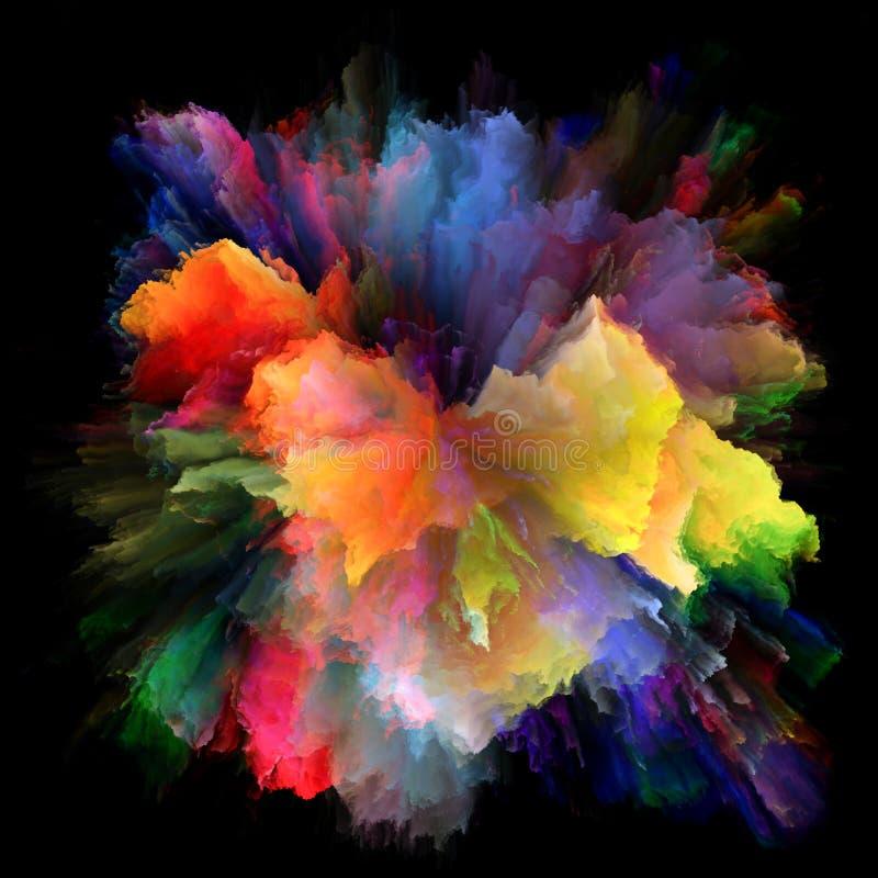 五颜六色的油漆飞溅爆炸能量  免版税库存照片