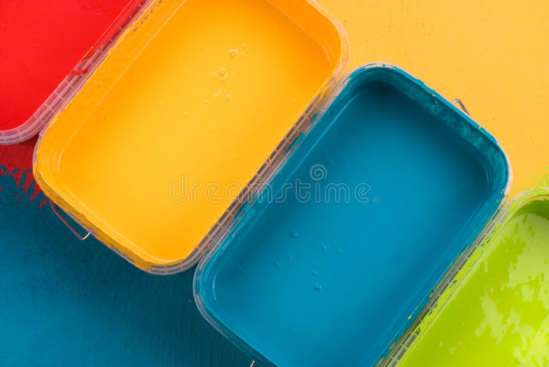 五颜六色的油漆 免版税库存照片