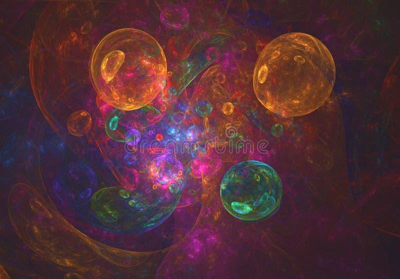 五颜六色的泡影狂欢节摘要背景 向量例证
