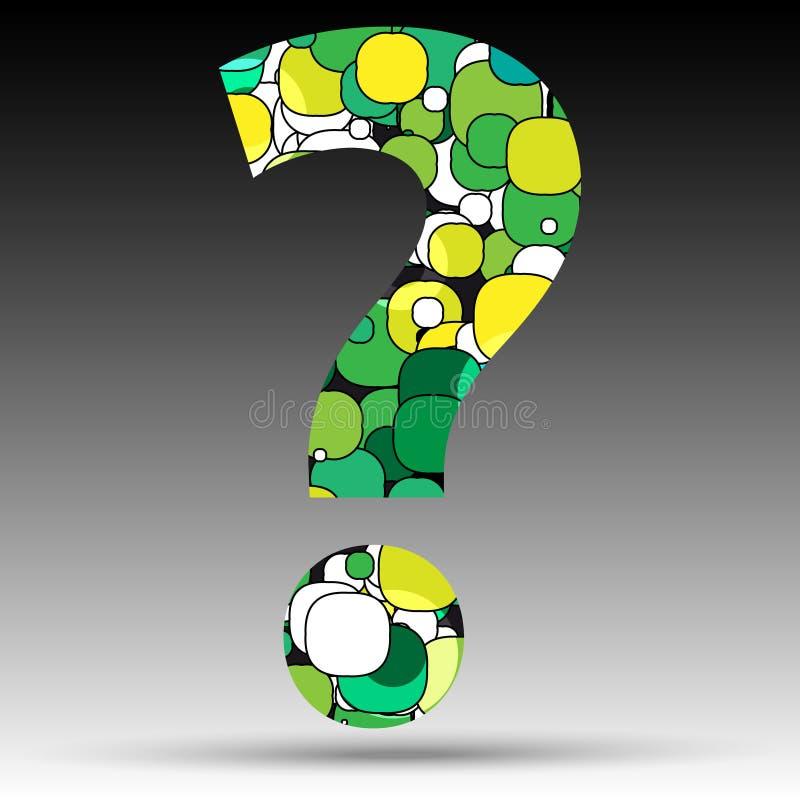 五颜六色的泡影问号标志 皇族释放例证