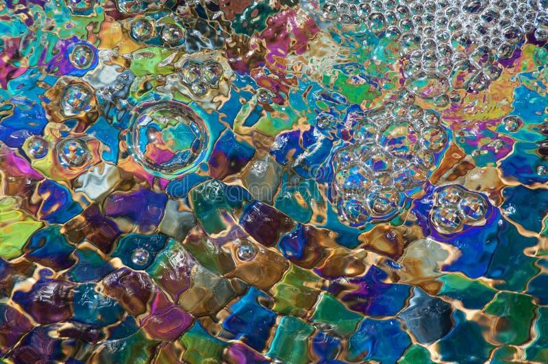 五颜六色的泡影 库存图片