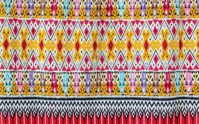 五颜六色的泰国工艺品样式表面纹理背景 免版税库存图片