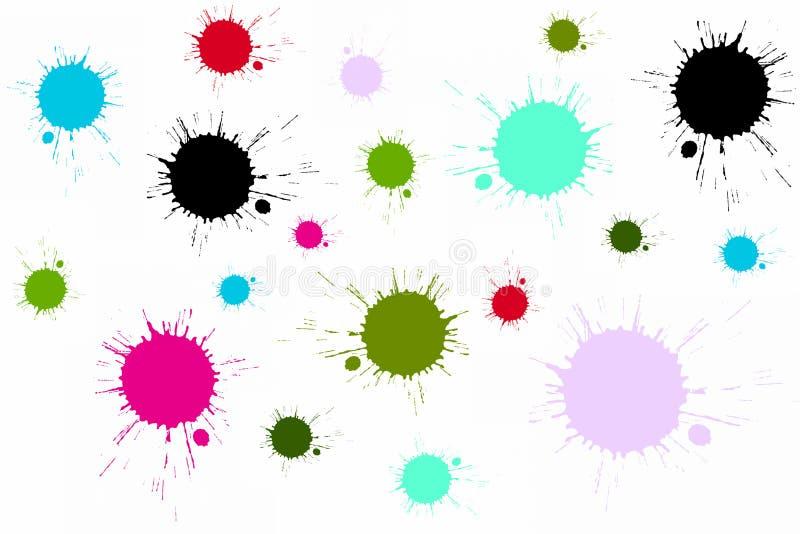 五颜六色的泼溅物 向量例证