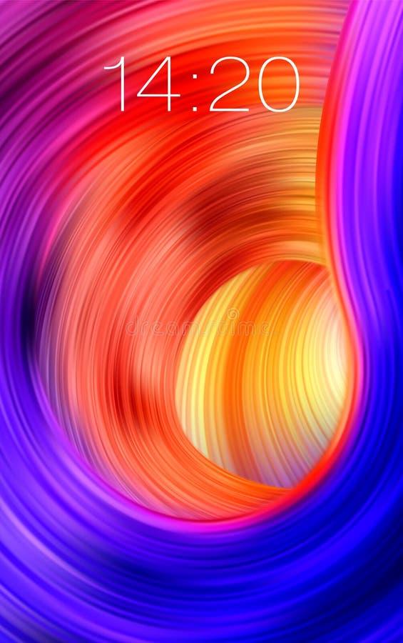 五颜六色的流程背景 现实时间墙纸 皇族释放例证
