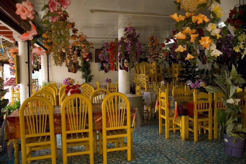 五颜六色的海岛janitzio墨西哥墨西哥餐馆 库存照片