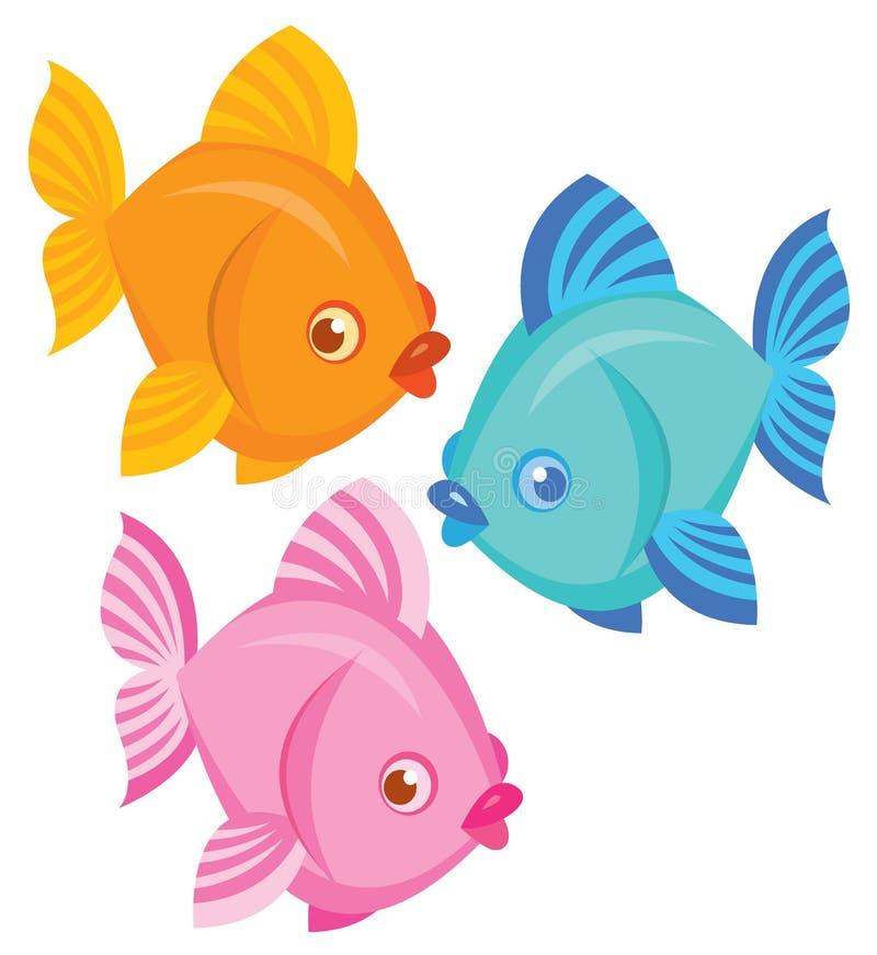 五颜六色的海鱼 向量例证