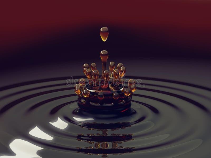 五颜六色的液体飞溅与小滴的 向量例证