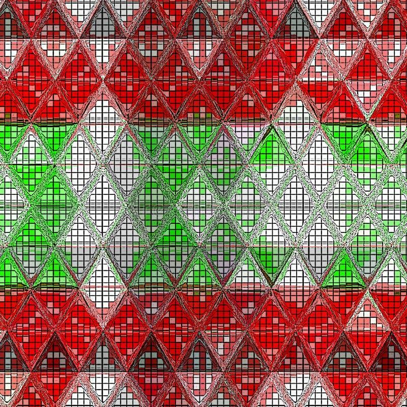 五颜六色的漩涡彩虹多角形背景或横幅框架 抽象三角几何背景 向量例证