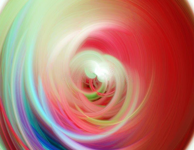 五颜六色的漩涡 库存例证