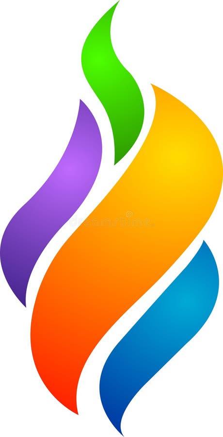 五颜六色的火焰徽标 皇族释放例证
