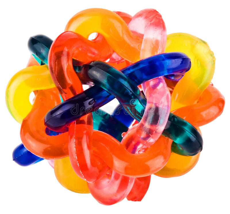五颜六色的灵活的交错的小的玩具 免版税图库摄影