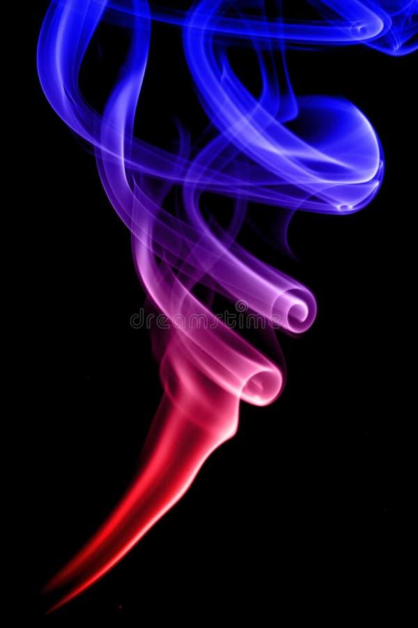 五颜六色的烟 库存图片