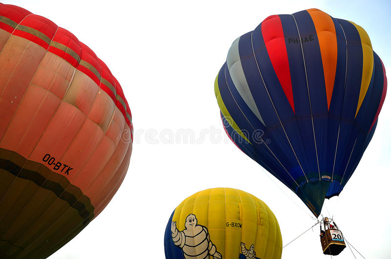 五颜六色的热空气气球的储蓄图象 库存图片