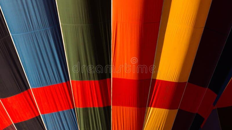 五颜六色的热空气气球细节 免版税库存照片