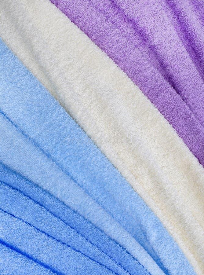 五颜六色的特里纺织品纹理 免版税库存照片