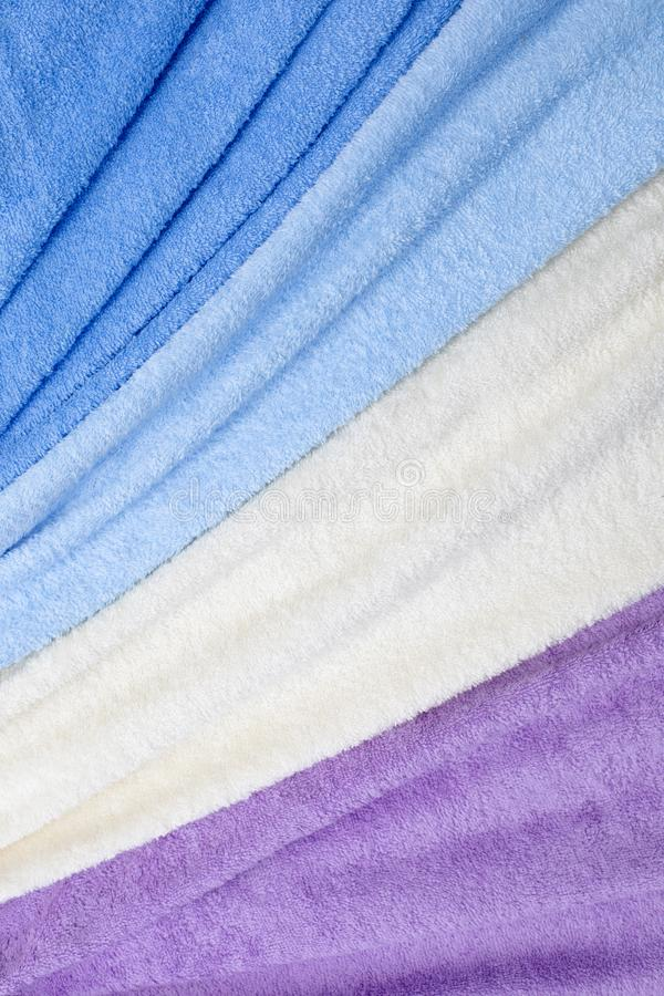 五颜六色的特里纺织品纹理 免版税库存图片