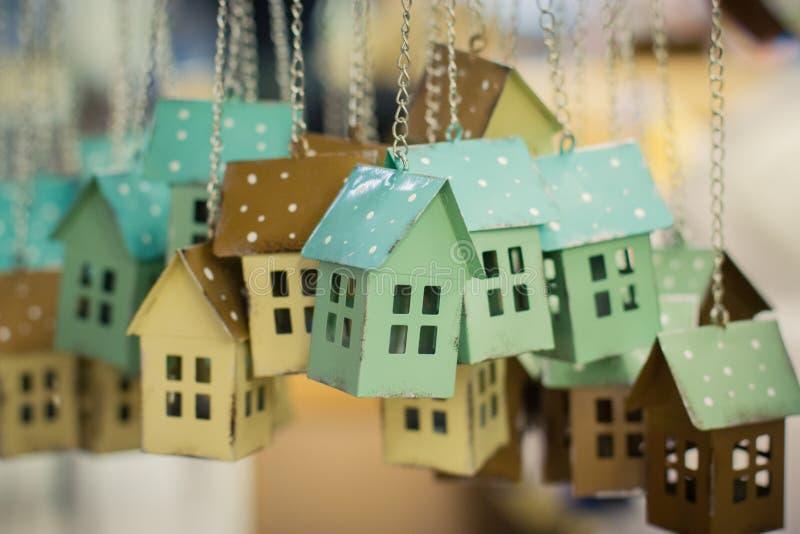 五颜六色的玩具房子 免版税库存照片
