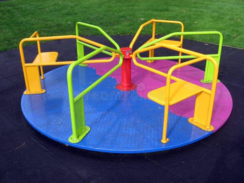 五颜六色的环形交通枢纽 库存照片