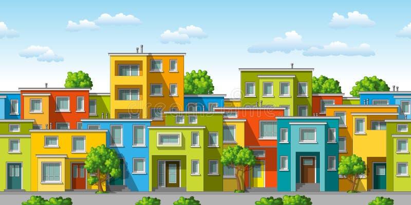 五颜六色的现代家庭房子的例证 向量例证