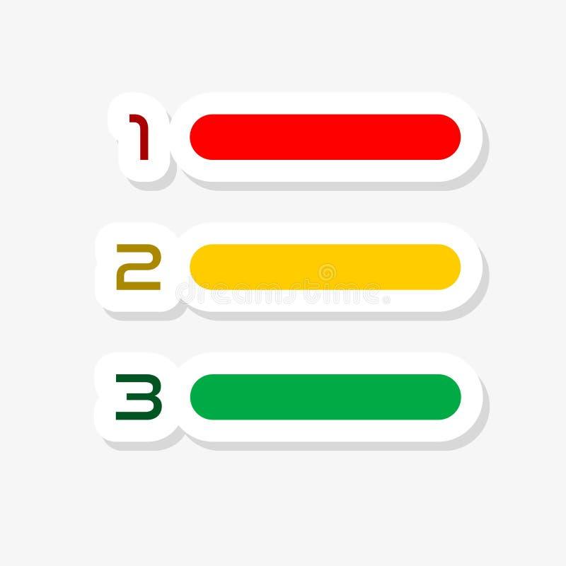 五颜六色的现代纸削减了样式Infographics设计 库存例证