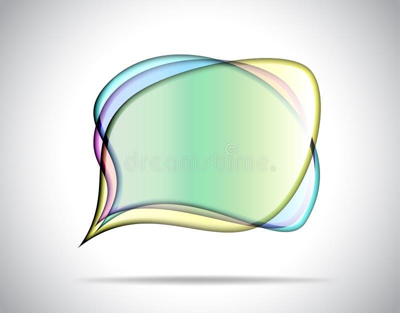 五颜六色的玻璃板 皇族释放例证
