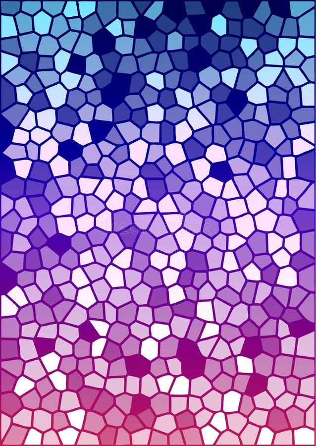 五颜六色的玻璃被弄脏的纹理向量 皇族释放例证