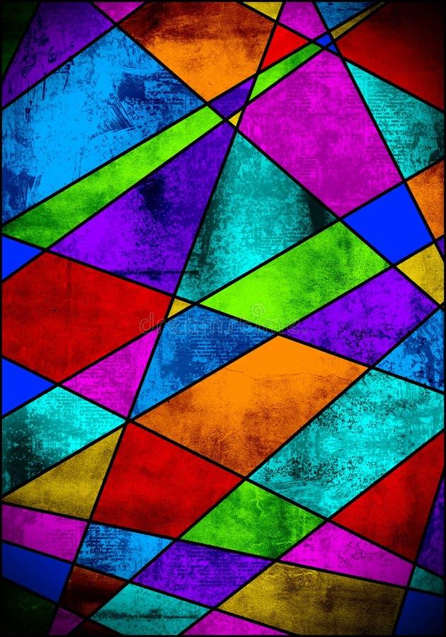 五颜六色的玻璃被弄脏的纹理 向量例证