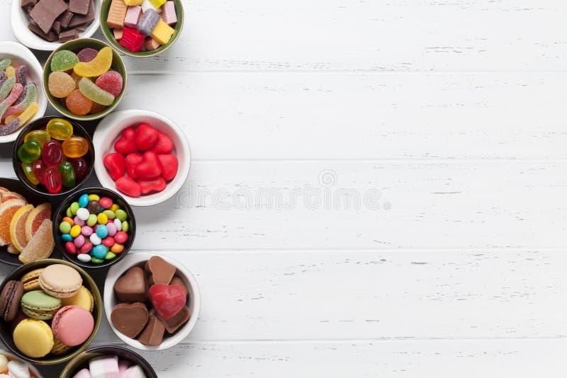 五颜六色的甜点 图库摄影