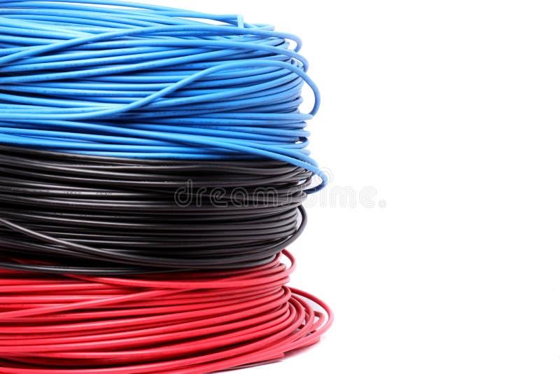 五颜六色的电缆 免版税库存照片