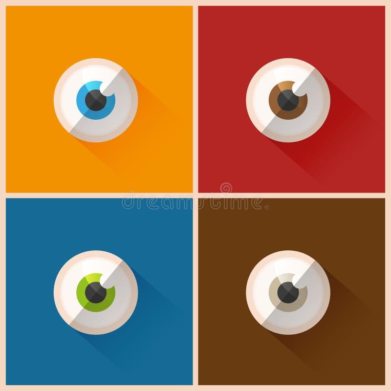 五颜六色的眼睛 向量例证