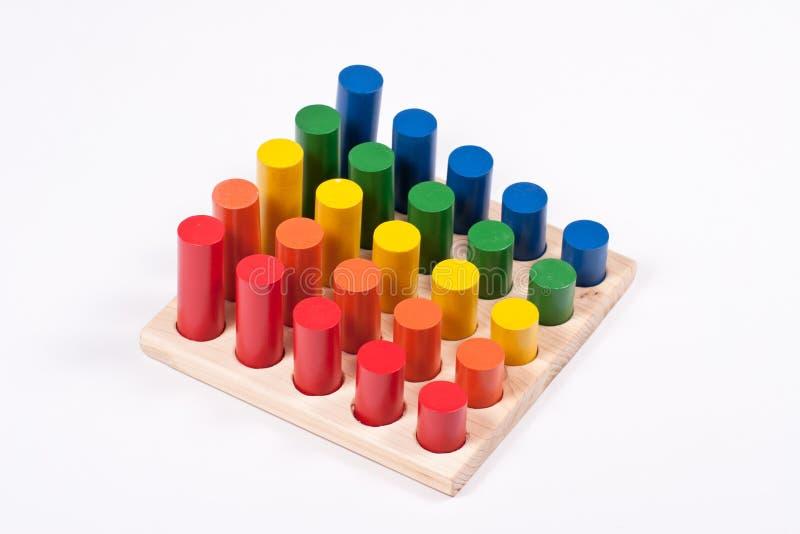 五颜六色的知觉玩具 免版税库存图片