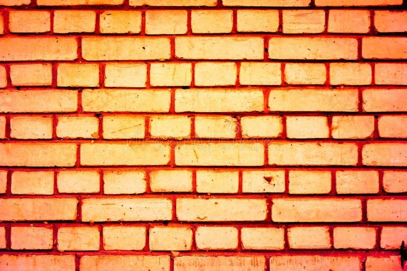 五颜六色的砖墙样式,作为都市纹理的被绘的砖 免版税库存照片